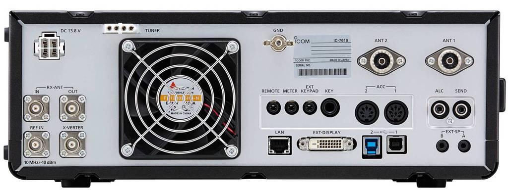 Icom IC-7610 HF/6/ Transceiver Rear View