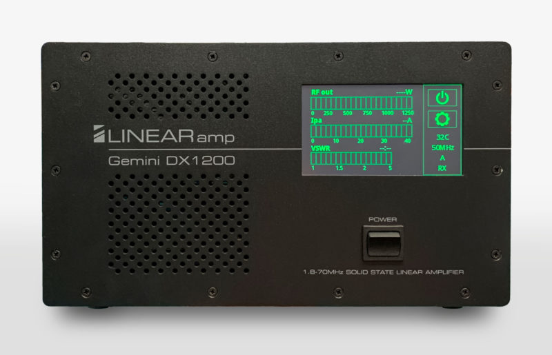 Gemini DX1200 Solid State Linear Amplifier - front view