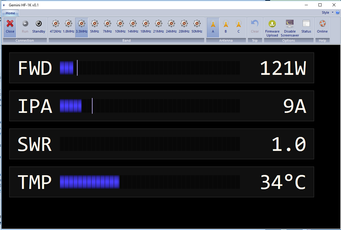 Remote Software example screenshot