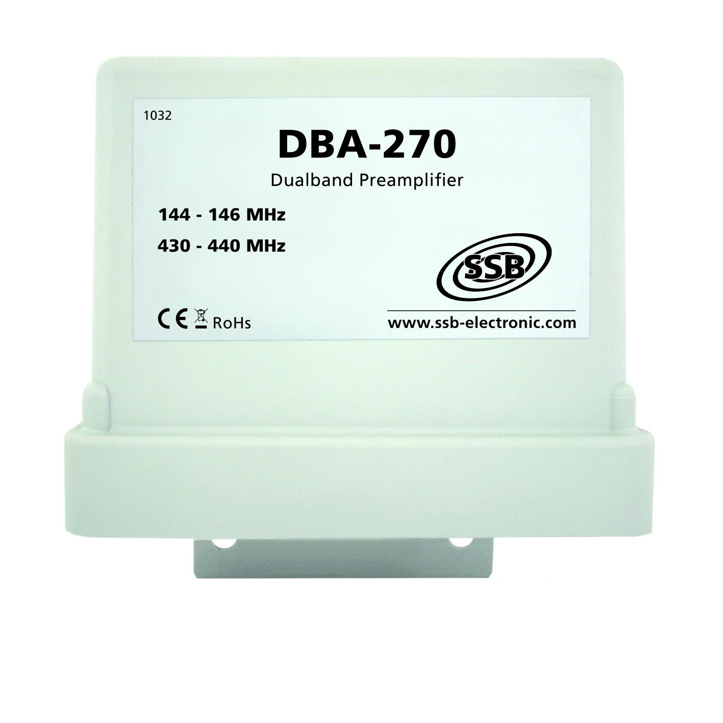 DBA270 masthead preamplfier for 144/432 side view