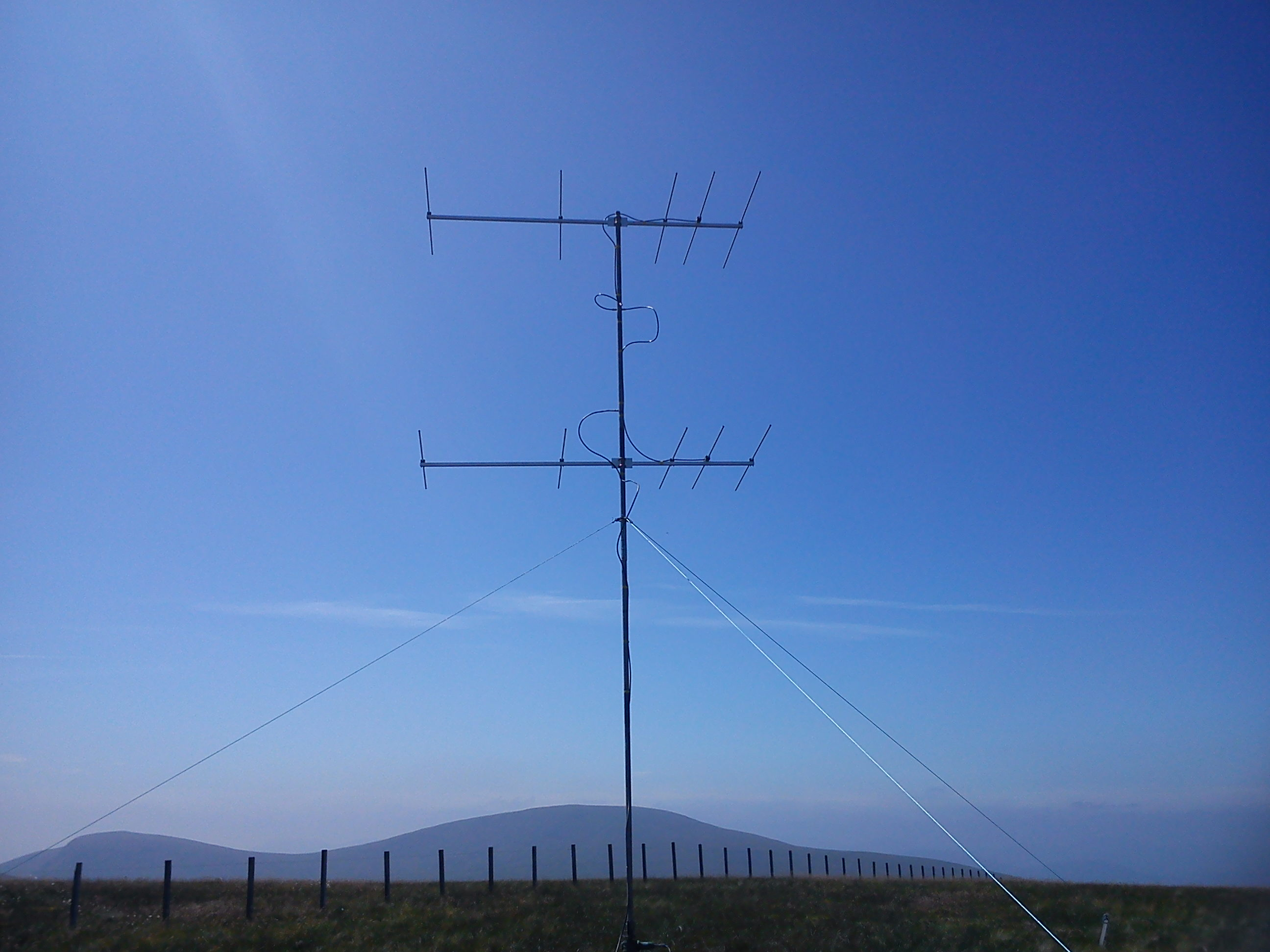 4M5N50-HD x 2 antennas in use at GM6MD/P contest site